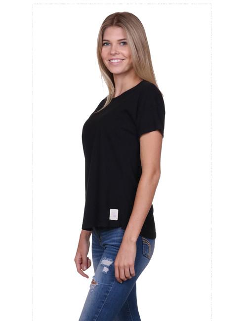 Womens t-shirt - SeaShell style - Black -  Supima®