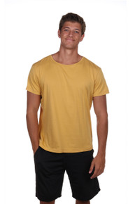Men's Yellow t-shirt - Laid Back - Supima