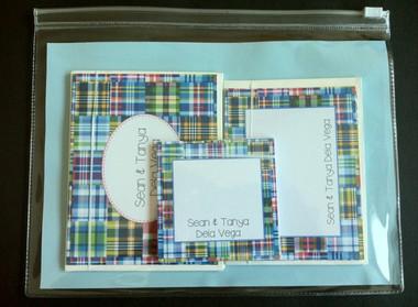 Blue Madras stationery giftset