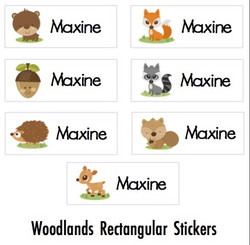 Rectangular Water Resistant Stickers