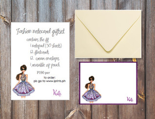 Fashion notecard giftset