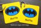 Batman logo mini tags