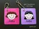 girl headshot mini tags