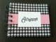 Pink Houndstooth notebook