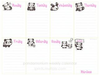 Pandamonium weekly pad