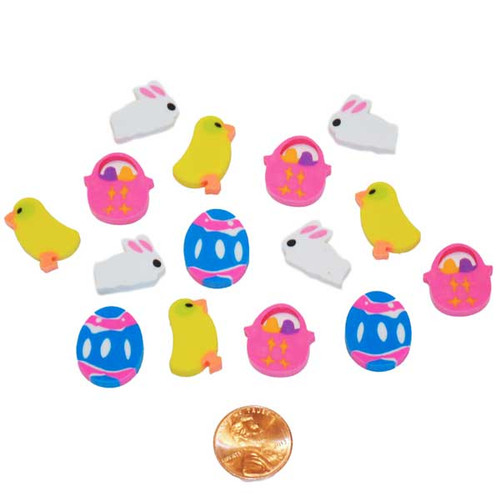 Mini Easter Themed Erasers