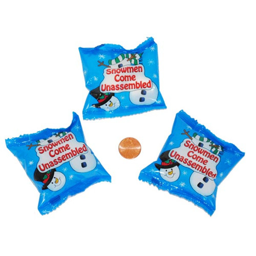 Snowman Marshmallow Candy Packets