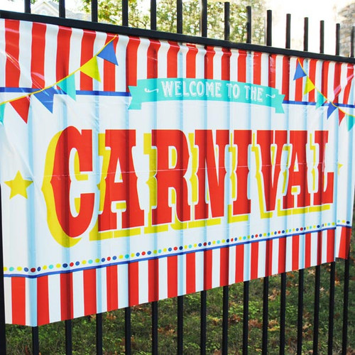 Large Carnival Sign Decoration