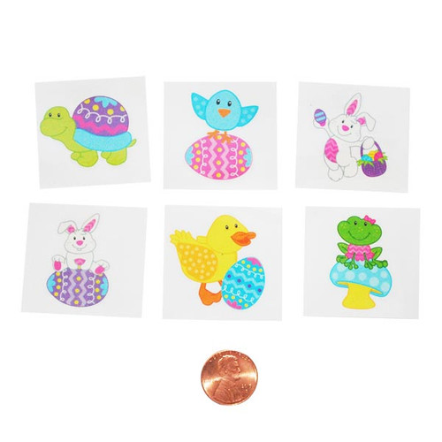 Easter Character Removable Kids Tattoos