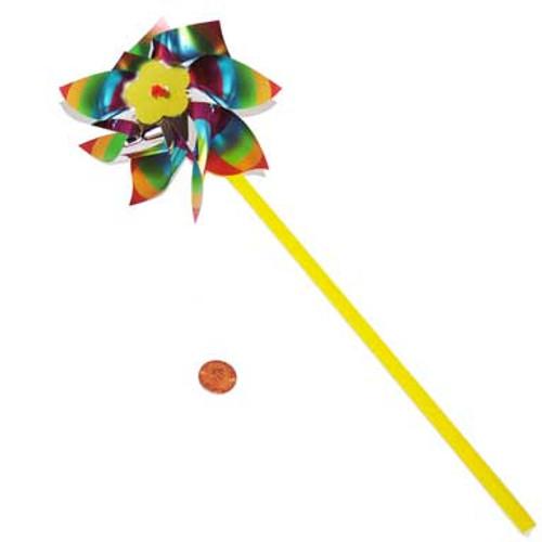 Metallic Rainbow Pinwheels (72 total pinwheels in 2 boxes) 27¢ each