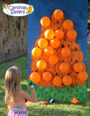 Fall festival game pop a pumpkin no darts needed for Fall outdoor activities for adults