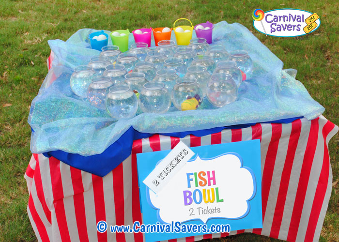 fish bowl carnival game carnival game ideas