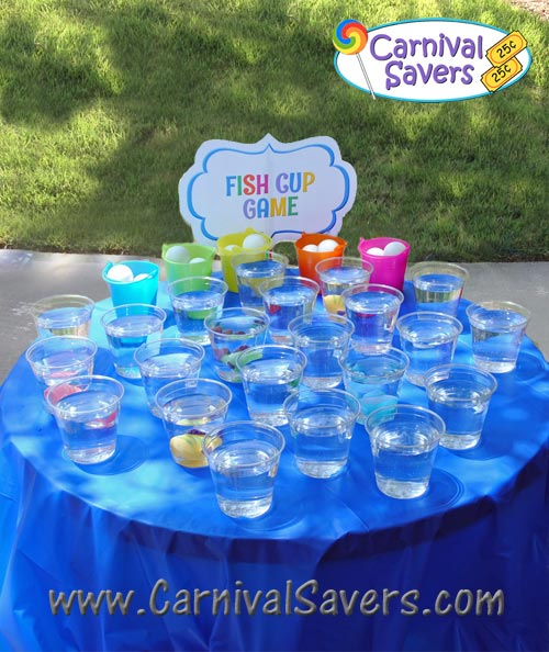 diy carnival game idea fish cup carnival game