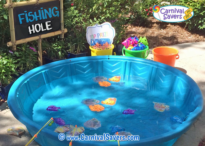 Fishing hole magnetic carnival game for The fish game