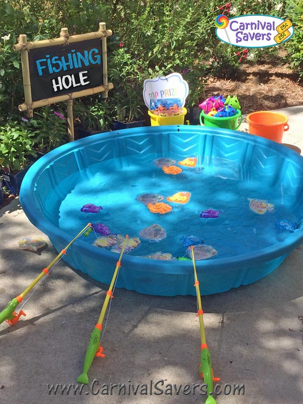 Fishing pond magnetic carnival game for Fish pond game