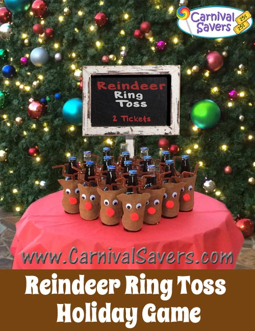 Reindeer ring toss game cute and easy christmas carnival