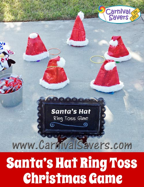 Diy christmas party game idea santa s hat ring toss