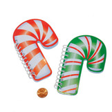 Candy Cane Mini Spiral Notepads