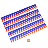 Patriotic Printed Wristbands - Paper, Water Resistant