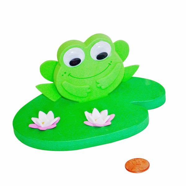 Frog Lily Pad Craft Foam 3d Floating Frog Lily Pad