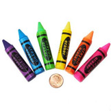 Rubber Crayon Erasers (144 total erasers in 2 bags) 16¢ each