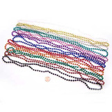 Metallic Bead Necklaces (144/bag) 14¢ each