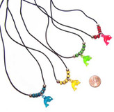 Plastic Dolphin Necklace (24 total necklaces in 2 bags) 36¢ each