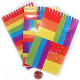 Mini Rainbow Notepads (24 total notepads in 2 bags) 36¢ each