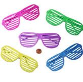 Plastic Shutter Shade Glasses (24 total glasses in 2 bags) 61¢ each