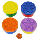 Play Dough with Stamps (24 total play dough containers in 2 bags) 65¢ each
