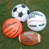 Inflatable Sports Balls (24 total sports balls in 2 bags) 79¢ each