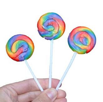 Mini Swirl Lollipop Candy