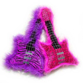 Toy Guitar Pillows - Fuzzy Stuffed Toy!