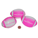 Pink Ribbon Mini Footballs (24 total pieces in 2 bags) 67¢ each