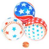 Foam Patriotic Baseballs (24 total balls in 2 bags) 95¢ each