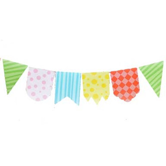 Carnival Decoration -- Cute Print Pennant Banner