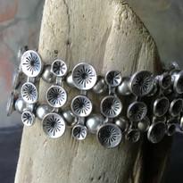 Silver Bloom Stretch Cuff