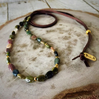 Watermelon Tourmaline Beaded Necklace