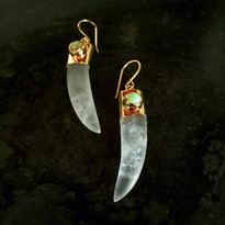 Quartz Tusk Earrings