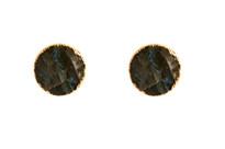 Round Studs in Labradorite