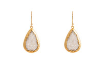 Gemma Druzy Drop Earrrings