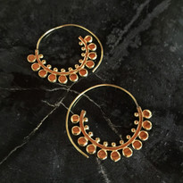 Pilar Tribal Hoop Earrings