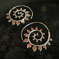 Radha Tribal Hoop Earrings