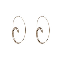Simple Spiral Hoop Earrings