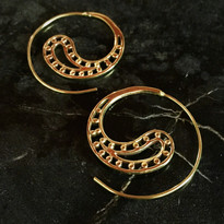 Paisley Hoop Earrings