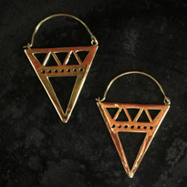 Cleo Inverted Pyramid Earrings