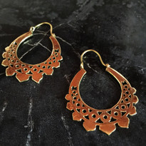 Lita Tribal Hoop Earrings