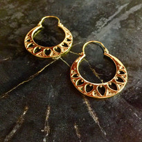 Lotus Leaf Hoop Earrings
