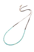 Simple Strand Gemstone Necklace in Turquoise Agate & Gold