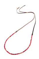 Simple Strand Gemstone Necklace in Ruby Quartz & Gold
